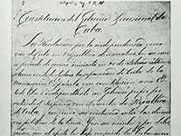 "The Constitution of Jimaguayú, born 120 years ago in ""Cuba Libre"" (Free Cuba), now has an even greater historical c o n n o t a t i o n as the original text has been included in the UNESCO N a t i o n a l World Memory Program."