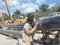 Construction of Another Gas Pipeline in Western Cuba Going Well