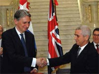 The visit to Cuba by Philip Hammond, the United Kingdom Secretary of State for Foreign Affairs was the first by a British Foreign Minister to the Island since the triumph of the Revolution in January 1959.