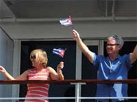 The 700 passengers -- 20 of whom were Cuban- Americans -- aboard the first U.S. cruise ship in 57 years to berth in Cuba, relished the atmosphere that surrounded the occasion.