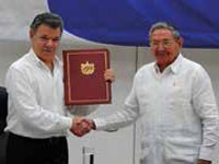 Colombia is closer to peace now that the government and the Revolutionary Armed Forces of Colombia-People's Army (FARC-EP) have signed an agreement for a bilateral and definitive ceasefire and end to hostilities.