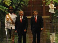 Cuba and Peru ratified the good state of their friendly relations and the cooperation that exists between the two Latin American nations, in the context of a visit by president Ollanta Humala to the Cuban capital.